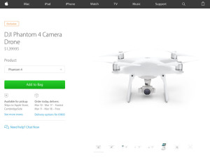 Apple получила эксклюзивные права на продажу дронов DJI Phantom 4