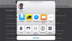 Как читать статьи офлайн, используя инструменты Safari