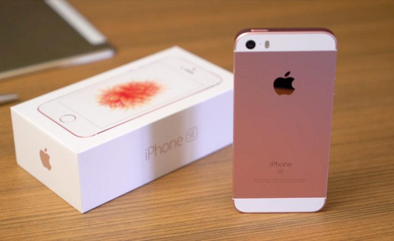 айфон se розовый фото