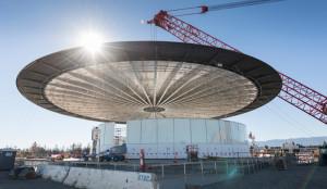Apple показали снимки подземного зала для конференций в новом кампусе