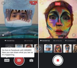 Приложение MSQRD теперь может проводить видеотрансляции