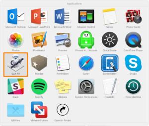 Как одним кликом закончить работу всех программ на Mac?