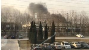 В Китае загорелся завод по производству батарей для Samsung