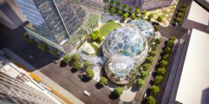 Парк нового офиса Amazon в Сиэтле: фотогалерея