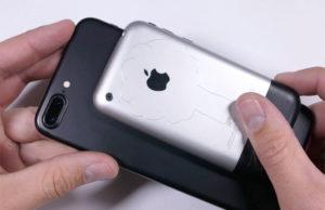 Первый iPhone проверили на прочность огнем, сгибанием и ножом