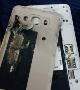 Смартфон Samsung взорвался в руках у ребенка